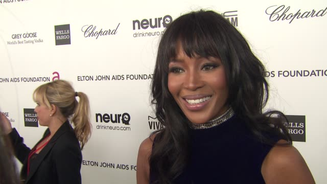 INTERVIEW Naomi Campbell at Elton John AIDS Foundation Presents 21st Annual Academy Awards Viewing Party Sponsored By Chopard Neuro Drinks And Wells...