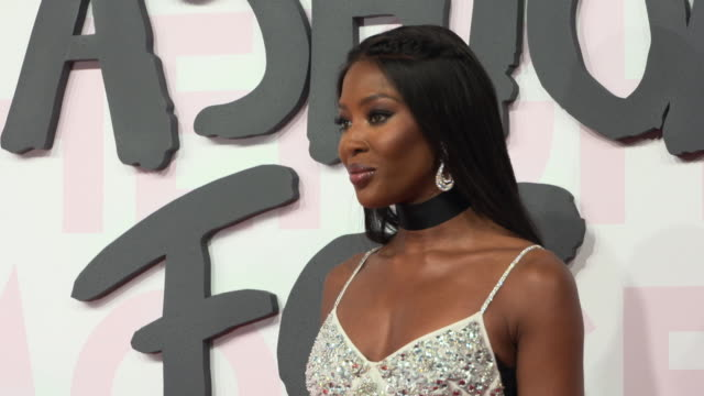 naomi campbell at fashion for relief fashion catwalk - the 71st cannes fillm festival at aeroport cannes mandelieu on may 13, 2018 in cannes, france. - カンヌ・マンデリュー空港点の映像素材/bロール
