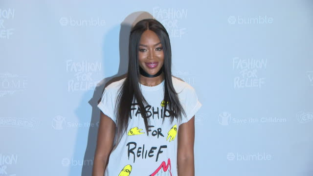stockvideo's en b-roll-footage met naomi campbell at fashion for relief press conference 71st annual cannes film festival at martinez hotel on may 12 2018 in cannes france - naomi campbell