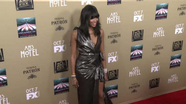 naomi campbell at fx's american horror story hotel los angeles premiere at regal cinemas la live on october 03 2015 in los angeles california - 2015 stock videos & royalty-free footage