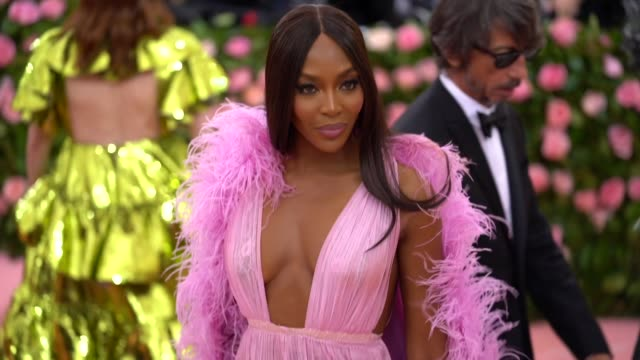 Naomi Campbell at The 2019 Met Gala Celebrating Camp Notes on Fashion Arrivals at Metropolitan Museum of Art on May 06 2019 in New York City