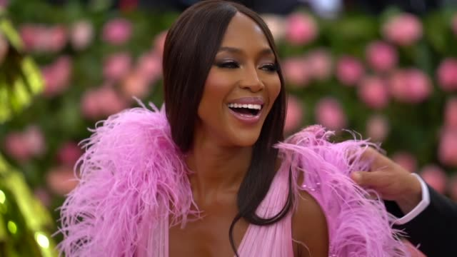 naomi campbell at the 2019 met gala celebrating camp notes on fashion arrivals at metropolitan museum of art on may 06 2019 in new york city - naomi campbell stock videos & royalty-free footage