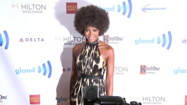 naomi campbell at the 25th annual glaad media awards at the beverly hilton hotel on april 12 2014 in beverly hills california - ビバリーヒルトンホテル点の映像素材/bロール