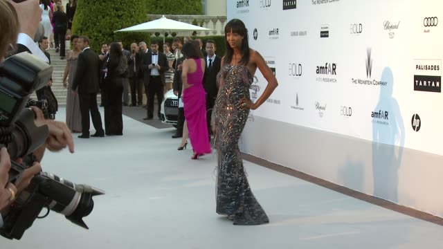 naomi campbell at the amfar cinema against aids gala at antibes - 2010 stock videos & royalty-free footage