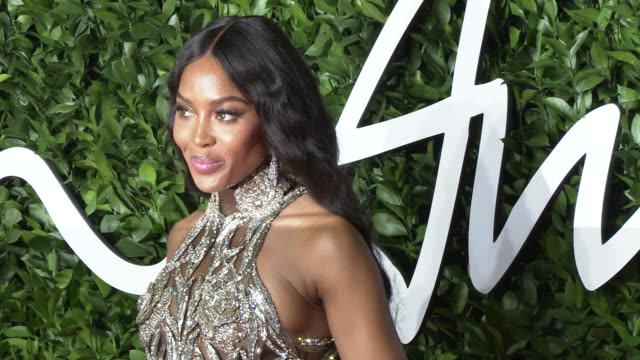 naomi campbell at the fashion awards 2019 at royal albert hall on december 2 2019 in london england - award stock videos & royalty-free footage