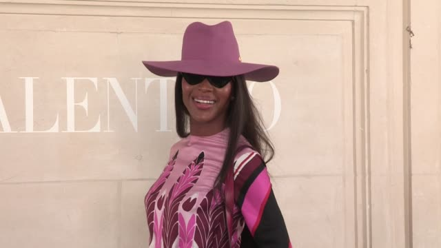 naomi campbell at the photocall for the valentino fall winter 2020 haute couture fashion show in paris paris france on wednesday july 3 2019 - naomi campbell stock videos & royalty-free footage