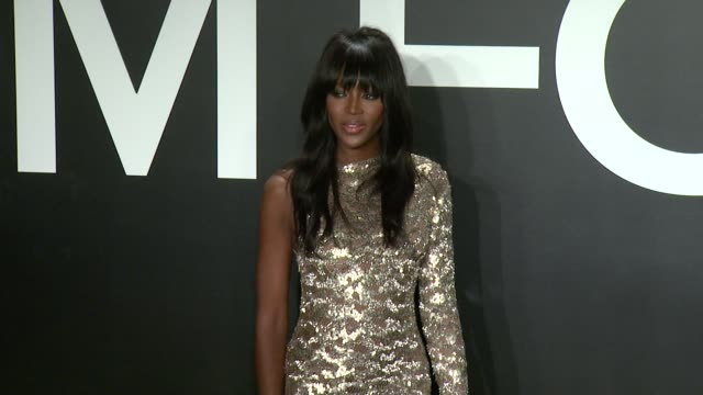 stockvideo's en b-roll-footage met naomi campbell at tom ford presents his autumn/winter 2015 womenswear collection at milk studios on february 20 2015 in los angeles california - dameskleding