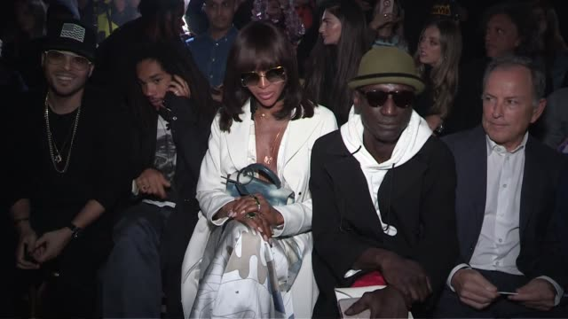 naomi campbell front row for the off-white spring summer 2020 fashion show in paris paris, france on thursday september 26, 2019 - paris fashion week stock videos & royalty-free footage