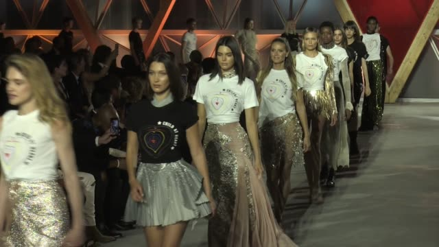naomi campbell heidi klum bella hadid kendall jenner natalia vodianova natasha poly and more at fashion for relief finale in cannes cannes france on... - naomi campbell stock videos & royalty-free footage