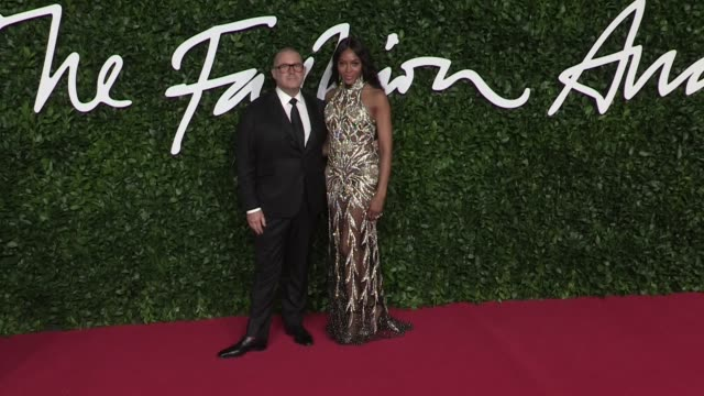 naomi campbell jonathan paul jony ive on the red carpet for the british fashion awards 2019 held at royal albert hall in london london uk on monday... - naomi campbell stock videos & royalty-free footage