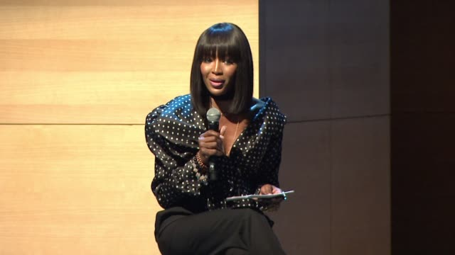 speech naomi campbell on challenging racism and asking for what she wants at glamour's women of the year live summit at brooklyn museum on november... - naomi campbell stock videos & royalty-free footage