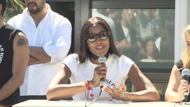 interview naomi campbell on visiting the zaatari in jordan at 'fashion for relief' press conference on may 20 2017 in cannes france - naomi campbell stock videos & royalty-free footage