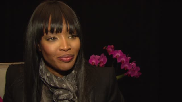 naomi campbell talks about coming up during the era of the supermodel and how all the models took care of one another at the new york fashion week... - supermodel stock videos and b-roll footage