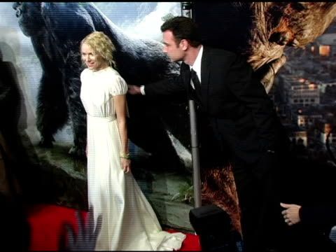 Naomi Watts and Liev Schreiber at the 'King Kong' New York Premiere at Loews EWalk and AMC Empire Cinemas in New York New York on December 5 2005