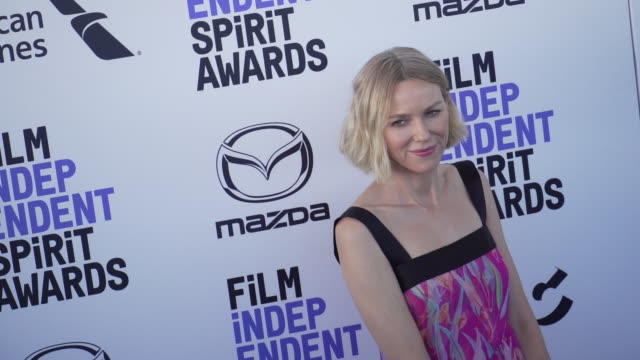 slomo naomi watts at the 2020 film independent spirit awards on february 08 2020 in santa monica california - film independent spirit awards stock videos & royalty-free footage