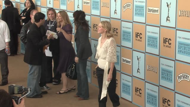 naomi watts at the the 21st annual ifp independent spirit awards in santa monica california on march 4 2006 - ifp independent spirit awards stock videos and b-roll footage