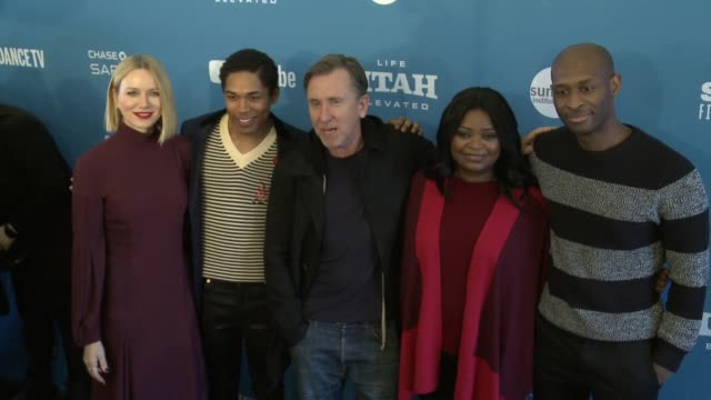 naomi watts kelvin harrison jr tim roth octavia spencer julius onah at 'luce' premiere 2019 sundance film festival at library center theater on... - sundance film festival stock videos & royalty-free footage