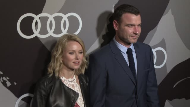 naomi watts, liev schreiber at audi celebrates golden globes weekend 2015 at cecconi's restaurant on january 08, 2015 in los angeles, california. - ブランド ステラマッカートニー点の映像素材/bロール