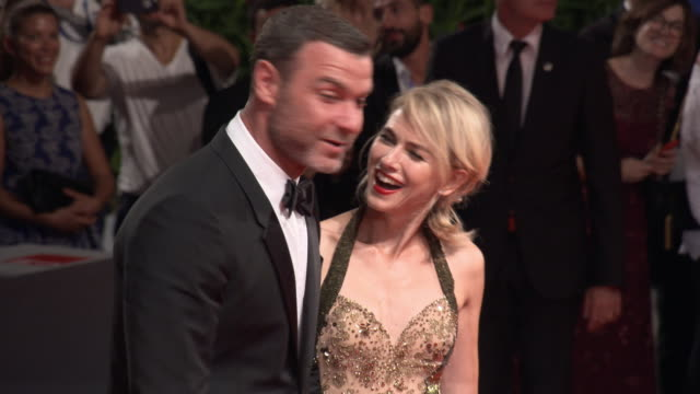 naomi watts liev schreiber at 'the bleeder' red carpet 73rd venice film festival at palazzo del cinema on september 02 2016 in venice italy - mark watts stock videos & royalty-free footage