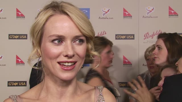 Naomi Watts on being honored Russell Crowe Steve Irwin at the 2007 Penfolds Icon Black Tie Gala at Hyatt Regency Century Plaza in Los Angeles...