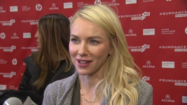interview naomi watts on how it feels to have the film featured at sundance what attracted her to the project if her experience as a mother added to... - robin wright stock videos and b-roll footage