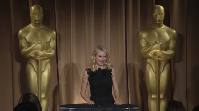 interview naomi watts on juan antonio bayona and on oscar preparations at the 85th academy awards nominations luncheon in beverly hills ca on 2/4/13 - juan antonio bayona stock videos and b-roll footage