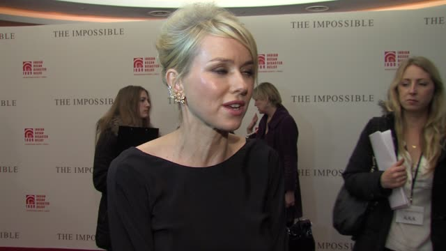 Naomi Watts on making the film meeting Maria Belon for the first time working with the younger cast on her next film playing Princess Diana at The...