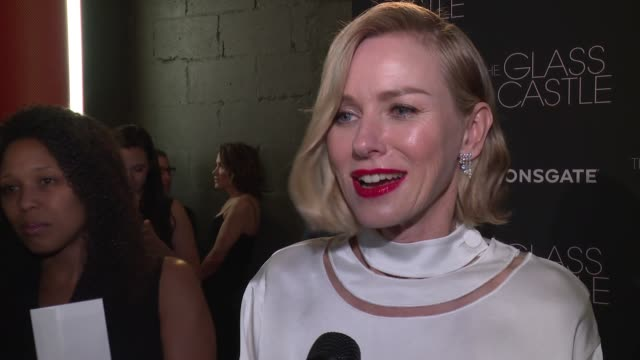 INTERVIEW Naomi Watts on working on the film at Lionsgate Presents The New York Special Screening Of The Glass Castle at SVA Theater on August 2 2017...