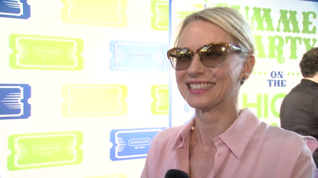INTERVIEW Naomi Watts says she loves being out on a June summer night in New York at Summer Party On The Highline Presented By Coach at The High Line...