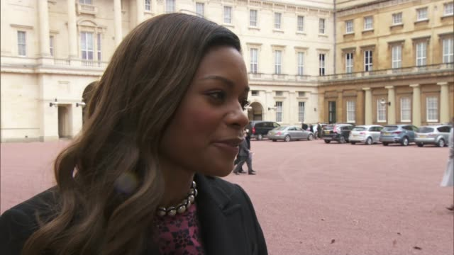 naomie harris and max whitlock receive honours from queen elizabeth; naomie harris and max whitlock receive honours from queen elizabeth; close shot... - award stock videos & royalty-free footage