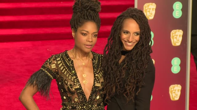 naomie harris at royal albert hall on february 18 2018 in london england - time's up social movement stock videos and b-roll footage
