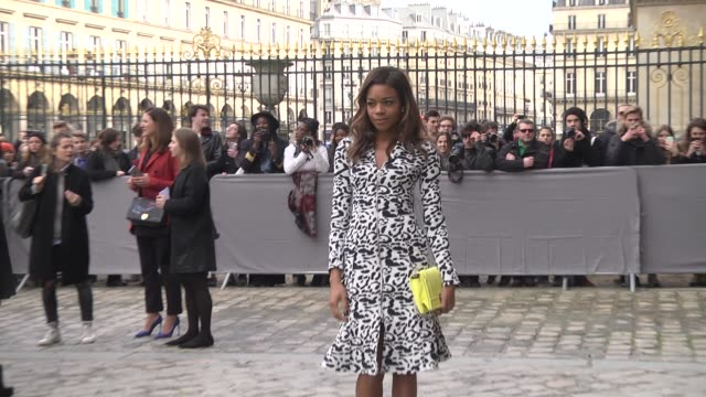 Naomie Harris attends the Christian Dior show as part of the Paris Fashion Week Womenswear Fall/Winter 2016/2017 on March 4 2016 in Paris France