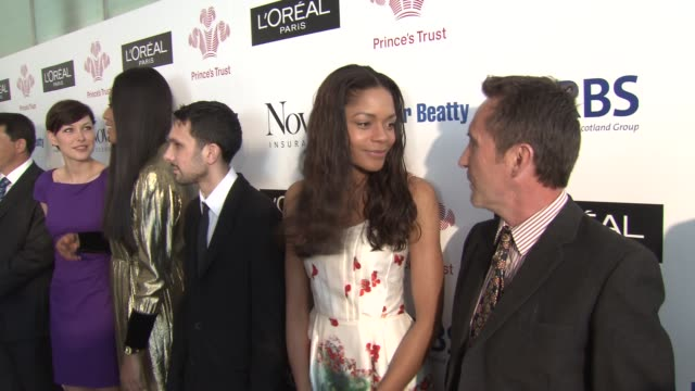 naomie harris bruce parry emma willis dynaom v v brown at the the prince's trust celebrate success awards arrivals at london england - bruce stock videos & royalty-free footage