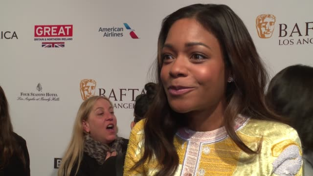 interview naomie harris on bringing her mom to the bafta awards tea party on how she never thought she'd get to this point in her career on enjoying... - tea party stock videos and b-roll footage