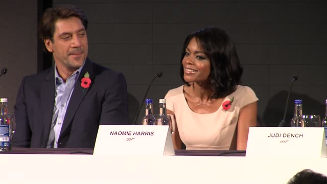 naomie harris on getting the role at the bond 23 launch press conference skyfall at london england - skyfall stock videos and b-roll footage