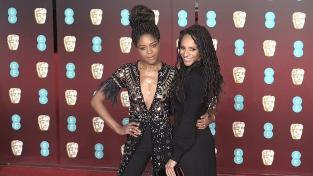 naomie harris on the red carpet of the 2018 bafta award ceremony in london london uk 18th february 2018 - time's up social movement stock videos and b-roll footage