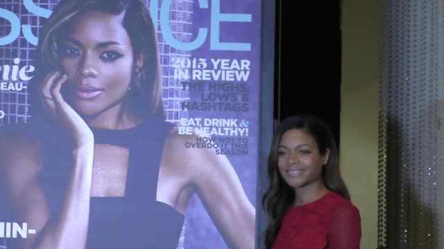 Naomie Harris reveals new Essence Magazine cover at the Spectre The Black Women Of Bond Tribute at California African American Museum on 11/3/2015 in...