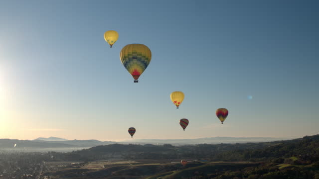 napa hot air balloons - hot air balloon stock videos & royalty-free footage