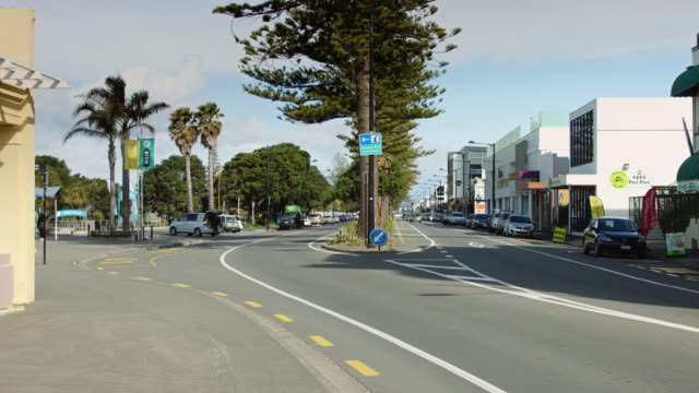 napier street scene - marine parade - new zealand culture stock videos and b-roll footage