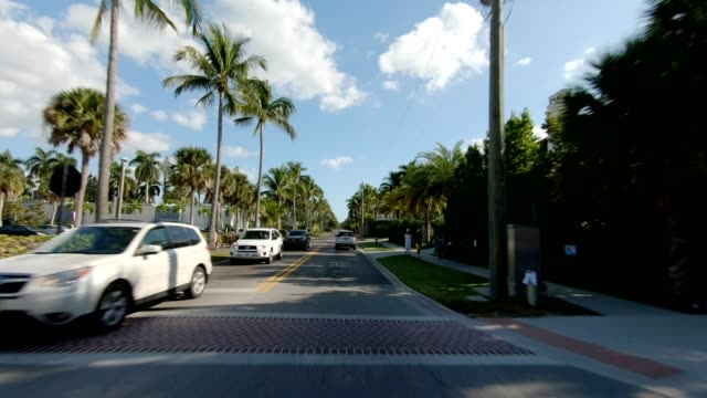 naples beach v synced series front view driving process plate - driving plate stock videos & royalty-free footage