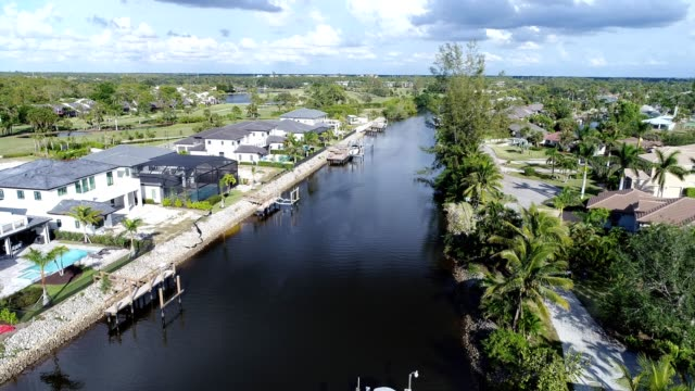 naples canal - naples florida stock videos & royalty-free footage