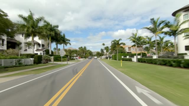 naples florida xi synced series front view driving process plate - naples florida stock videos & royalty-free footage