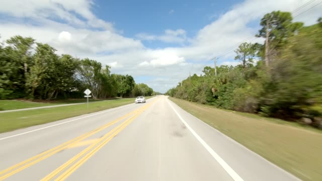 naples florida xvi synced series front view driving process plate - naples florida stock videos & royalty-free footage