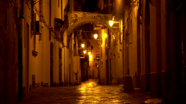naples, italy by night - イタリア点の映像素材/bロール