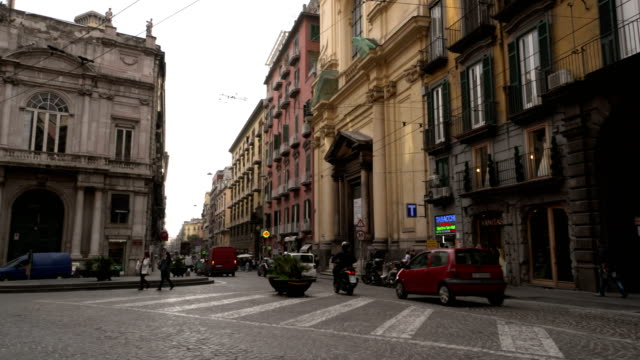 naples, italy - segnaletica stradale video stock e b–roll