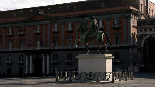 naples, italy - プレビシート広場点の映像素材/bロール