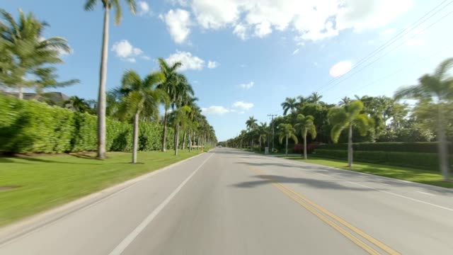 naples suburb x synced series rear view driving process plate - naples florida stock videos & royalty-free footage