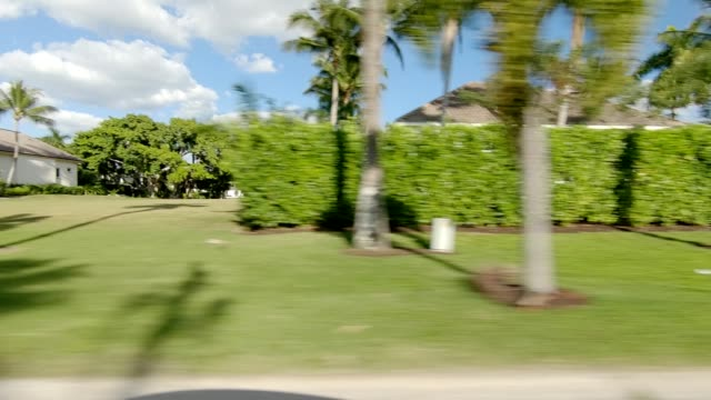 naples suburb x synced series right view driving process plate - naples florida stock videos & royalty-free footage