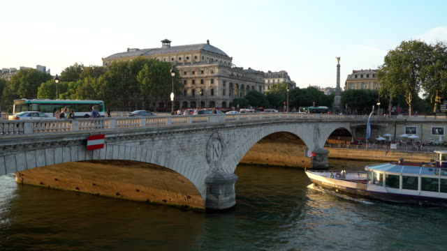 napoleon bridge - river seine stock videos & royalty-free footage