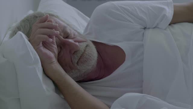 napping - sad old asian man stock videos & royalty-free footage